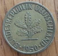 Germany Deutschland   10 Pfennig 1950 J - 10 Pfennig