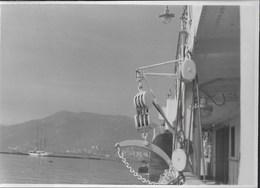 IN VISTA DEL PORTO -  FORMATO 14,50X10,50 - ORIGINALE D'EPOCA FINE ANNI '40 - Barche