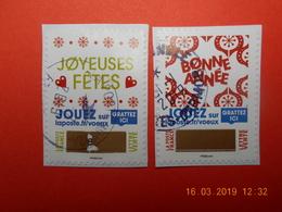 FRANCE 2018  CL045  Du Carnet  ENVOYEZ PLUS QUE DES VOEUX  (2 Timbres) Beaux Cachets Ronds (A Voyagé) - France