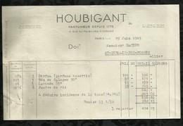 HOUBIGANT . PARFUMEUR . PARIS LE : 29 JUIN 1945 . - Droguerie & Parfumerie