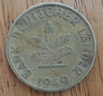 Germany Deutschland   10 Pfennig 1949 G - 10 Pfennig
