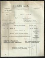 HOUBIGANT . PARFUMEUR . PARIS LE : 31 JUILLET 1947 . - Droguerie & Parfumerie