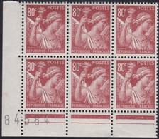France  .   Yvert    .    431  Bloc De 6      .   **  .    Neuf  SANS  Charniere  .   /   .    MNH - France