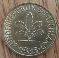 Germany Deutschland   10 Pfennig 1983 F - 10 Pfennig