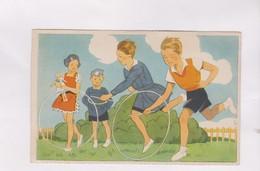 CPA ILLUSTREE  , ENFANTS ET CERCEAUX - Illustrators & Photographers