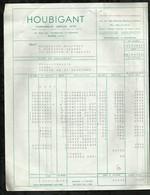 HOUBIGANT . PARFUMEUR . PARIS LE : 22 OCTOBRER 1956 . - Droguerie & Parfumerie