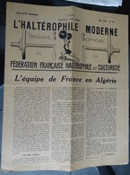 """Revue Mensuel - L'haltérophile Moderne N 46 - Mai 1950 """"fédération Française"""" - Sport"""