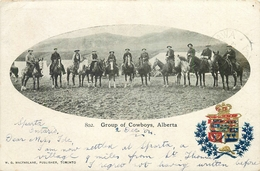 GROUP OF COWBOYS, ALBERTA - PPC - POSTED IN 1904 #85611 - Other