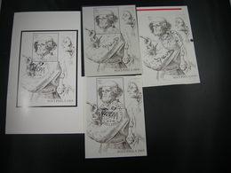 """BELG.1969 BL45 = 1491  FDC Zwart/wit Noir/blanc Feuillet & BL45 X 3 : """" Postphila 69 ,P.Bruegel """" - 1961-70"""