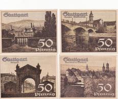 Série De 4 Billets De Banque Allemands Du Temps De L'inflation - Stuttgart - 4x 50 Pfenning - [ 3] 1918-1933 : République De Weimar
