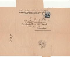 LETTERA Spedita Del 1947 BANCA CATTOLICA DEL VENETO VICENZA - Pagamentoi Effetti - Cambiali