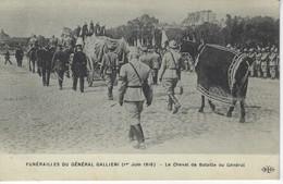 CPA 75 ( Paris ) - FUNERAILLES Du GENERAL GALLIENI ( 1 Er Juin 1916 ) - Le Cheval De Bataille Du General - Funérailles