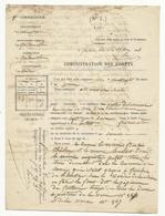 Procès Verbal Pour Coupe D'herbe En Bordure De Forêt - Fontainebleau - 1851 - Document De 4 Pages - Documents Historiques