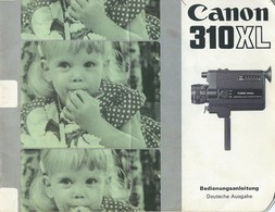 AD228 Anleitung Manual CANON 310 XL, Deutsche Ausgabe - Technical Plans