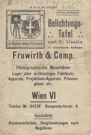 AD229 Belichtungstafel Für Fotoapparate Nach Dr. Staeble, Fruwirth & Comp. Wien - Technical Plans