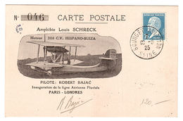 AMPHIBIE LOUIS SCHRECK - Inauguration De La Ligne Aérienne Fluviale Paris-Londres - 1919-1938: Entre Guerres