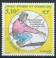 Saint-Pierre-et-Miquelon YT 593 XX / MNH Pétanque Sport - St.Pierre Et Miquelon