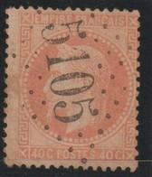 YT 31 Obl 40c Orange, Oblitération GC 5105 Suez, TB/B - France