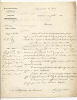 Lettre De L'Inspecteur Des Forêts De Fontainebleau - 1851 - à Propos De Coupe D'herbe - Documents Historiques