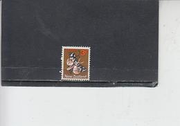 NUOVA ZELANDA  1970-71 - Yvert  512 - Insetti - Farfalle - 1907-1947 Dominion