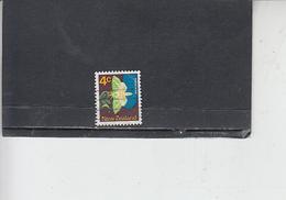 NUOVA ZELANDA  1970-71 - Yvert  513 - Insetti - Farfalle - 1907-1947 Dominion