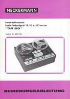 AD232 Anleitung Manual NECKERMANN Studio-Tonbandgerät 19, 9.5 U. 4.75 Cm/sec. - Technical Plans