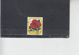 NUOVA ZELANDA  1975-9 - Yvert  547a - Fiori - Rose - Nuova Zelanda