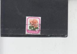 NUOVA ZELANDA  1975-9 - Yvert  551 - Fiori - Rose - Nuova Zelanda