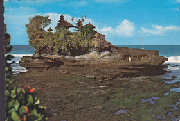 Indonisia PPC The Holy Rock Of Tenahlot, Bali PAREPARE 1977 SEON Schweiz (2 Scans) - Indonesien