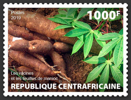 Central Africa. 2019 Cassava Roots And Leaves. (local06a)  LOCAL ISSUE - Alimentation