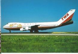CP AVION BOEING 747 131 N93108 TWA  EDITON P.I. ALLIANCE CARTERIE 895 - 1946-....: Era Moderna