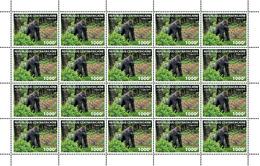 Central Africa. 2019 Gorilla. (local02c)  LOCAL ISSUE - Gorilles