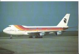 CP AVION BOEING 747 256B CORSE AIR INTERNATIONAL IN IBERIA COULOURS F-GHPC PARIS CDG 1989 - 1946-....: Ere Moderne