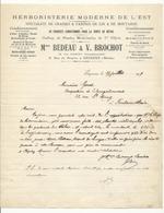 Courrier De 1917 - Herboristerie Moderne De L'Est - De Sézanne à Fontainebleau - Droguerie & Parfumerie