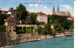007196  Basel - Deutschrittergarten Mit Münster  Musterkarte - BS Basel-Stadt