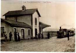 CPA LOIRE.LA TALAUDIERE.REPRODUCTION EN TRES BELLE PHOTO DE LA GARE - Autres Communes
