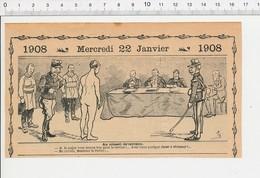 2 Scans Humour Militaire Conseil De Révision Effectué Par Le Préfet Armée 213/4 - Zonder Classificatie