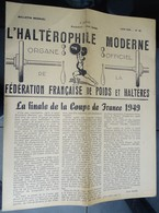 "Revue Mensuel - L'haltérophile Moderne N 36 - Juin 1949 ""fédération Française"" - Sport"