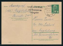 DDR Ganzsachenpostkarte MiNr. P 53, Gestempelt, Gelaufen Als Ortspostkarte In Magdeburg, - DDR