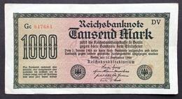 Germany 1000 Mark 1922 - [ 3] 1918-1933 : Repubblica  Di Weimar