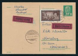 DDR Ganzsachenpostkarte EILBOTEN, MiNr. P 57a Und 477, Gestempelt NAUMBURG Nach MESEBURG - DDR