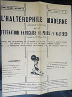 """Revue Mensuel - L'haltérophile Moderne N 8 - Nov 1946 """"fédération Française"""" - Sport"""
