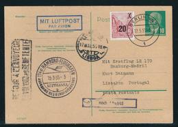 DDR Ganzsachenpostkarte LUFTPOST, MiNr. P 57a Und 439 A I G, Gestempelt BERLIN Nach LISSABON Bzw. MADRID - DDR