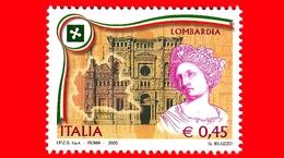 Nuovo - MNH - ITALIA - 2005 - Regioni D'Italia - Lombardia - 0,45 - 1946-.. République