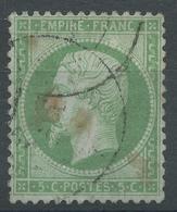 Lot N°46751  Variété/n°20, Oblit Cachet à Date, Grosse Tache Blanche Perles NORD EST - 1862 Napoléon III.