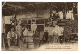 Cpa.usine De Lunéville.machine à écosser Les Pois Fauchés                                               .E. 3 - Luneville