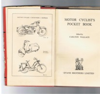Motor Cyclist's Pocket Book - 1960 - Moto, Scooter,... Livre En Anglais Avec Index - Infos Pratiques,... (Fr71) - Books, Magazines, Comics