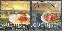 Guernesey - Gastronomie - Y&T N° 1054( Europa ) + 1056 - Oblitérés - Lot 151 - Guernesey