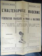 """Revue Mensuel - L'haltérophile Moderne N 4 - Juillet 1946 """"fédération Française"""" - Sport"""