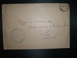 LETTRE OBL. 27 MAR 1932 + AFFAIRES INDIGENES CERCLE DU MOYEN OUERGHA à Commissaire Du Gouvernement FES - Marcophilie (Lettres)